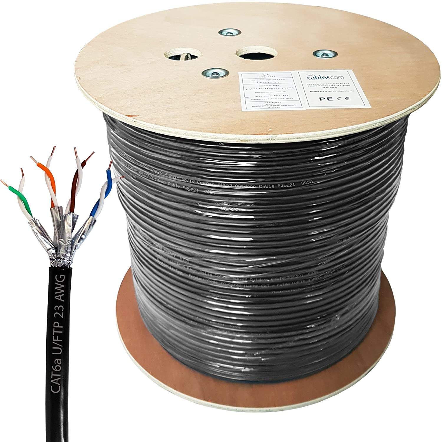 305m Cat6a Outdoor Rated Foil Shielded Electronics Wiring On Ftp Cat5 Cat5e Solid Cable China