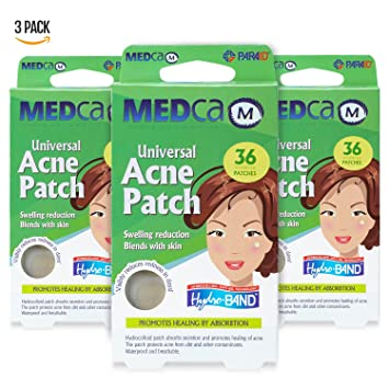 MEDca Universal Acne Pimple Patch Absorbing Cover 36 Count Two Sizes Eshu Skin Assist Face Wash, 4.7 Oz