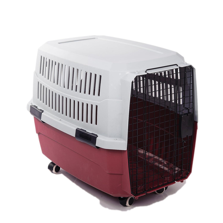Airline approved car travel vet visit dog crate pet for Portable travel dog crate