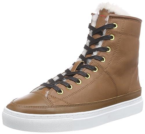 Hugo Boss Velia-L 10185407 01 - Zapatillas Deportivas Altas de Piel Mujer, Color marrón, Talla 42: Amazon.es: Zapatos y complementos