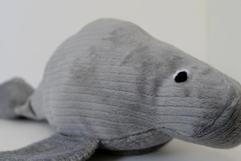 Soft Gray Manatee Plush Gray Stuffed Animal Manatee Plush
