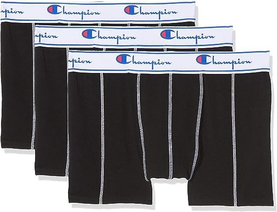 TALLA XL. Champion Coton Bóxer (Pack de 3) para Hombre