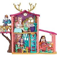 Enchantimals Coffret La Maison de Danessa Biche, Mini-poupée et Figurine Animale Sprint à un étage, avec 4 pièces et accessoires, jouet enfant, FRH50