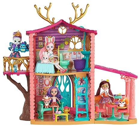 76ab73698ed Amazon.com: Enchantimals Cozy Deer House Playset + Danessa Deer Doll ...