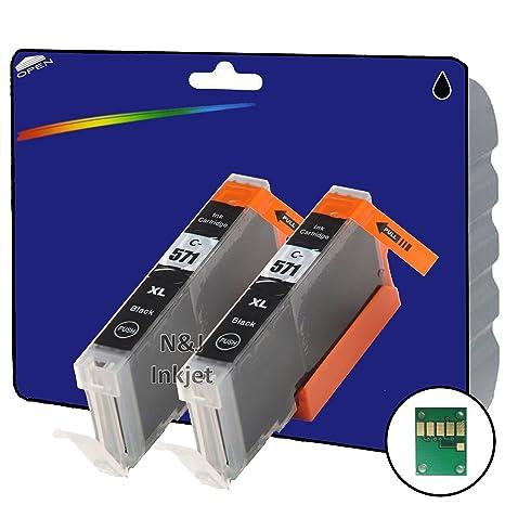 2 C571 foto negro no OEM Compatible cartuchos de tinta XL para ...