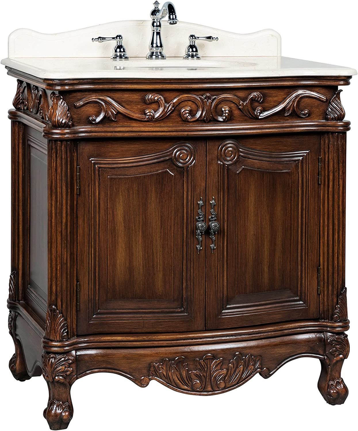 31 Traditional Style Fiesta Bathroom Sink VanityCabinet – Model CF-2873M