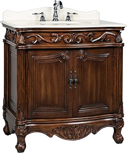 31 Traditional Style Fiesta Bathroom Sink VanityCabinet – Model CF-2873M-TK
