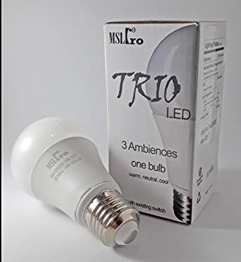 Mslpro 60 Watt Equivalent Trio Warm Soft White Daylight