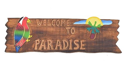 Tiki Cartel 50 cm - Welcome to Paradise - Decoración para su ...