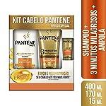 Shampoo Pantene Força e Reconstrução 400ml + Condicionador 3 MM 170ml + Ampola 15ml