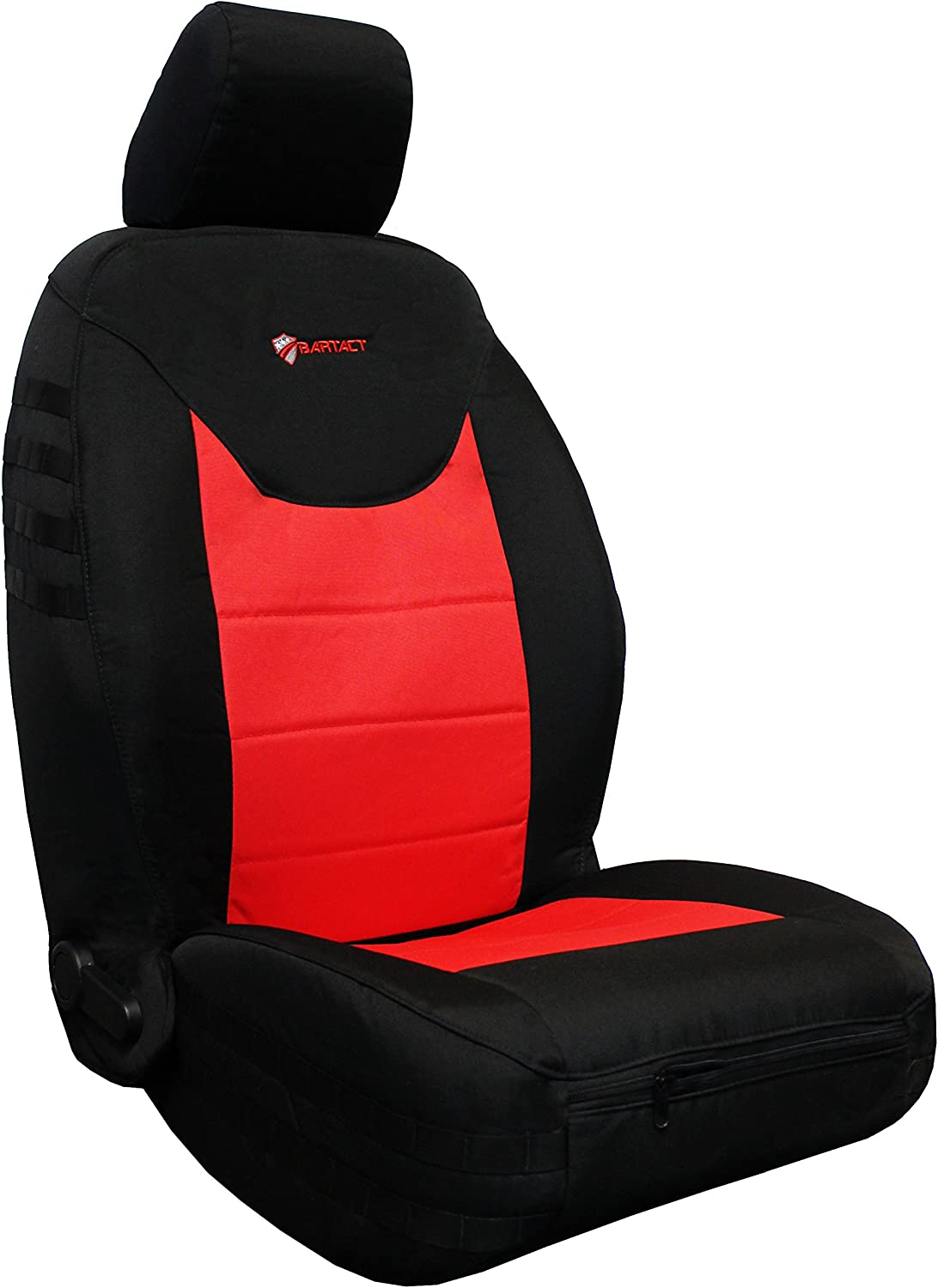 Jeep Wrangler JK and JKU Black//Red AIR Bag Compatible Bartact 2013-17 Front Seat Covers Pair