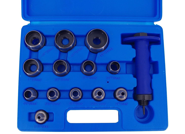 Trou Fer Jeu de 14 Piè ces Fer de perforation 5– 35 mm Trou Perforatrice Set outils WeberTools WT-3410