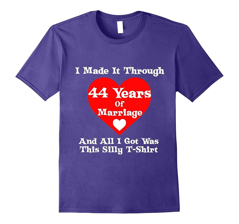 44th Wedding Anniversary Marriage Tee Shirt for Men Women-Vaci