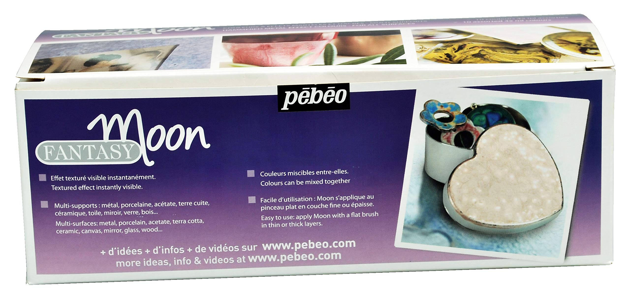 Pebeo Fantasy Moon, Set of 10 Assorted 45 ml Bottles by PEBEO