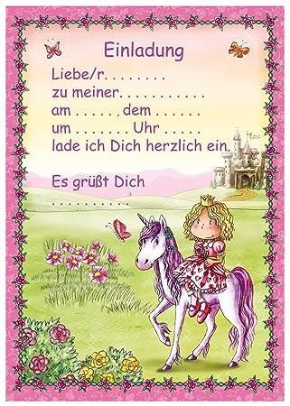 24 Teiliges Einladungsset PRINZESSIN In DIN A5 Vom Döll Verlag // B33201 /