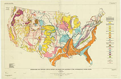Amazon.com: Historic Map | United States 1964 | Generalized map ...