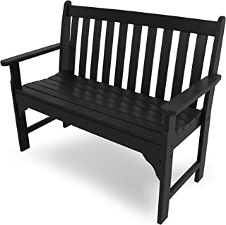 "product image for POLYWOOD GNB48BL Vineyard 48"" Bench, Black"