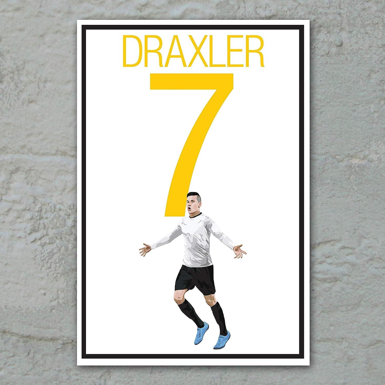 Amazon Com Julian Draxler Poster German Soccer Art Handmade