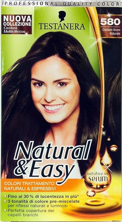 Natural & Easy Shampoo Tinte Castaño Oscuro 580: Amazon.es ...
