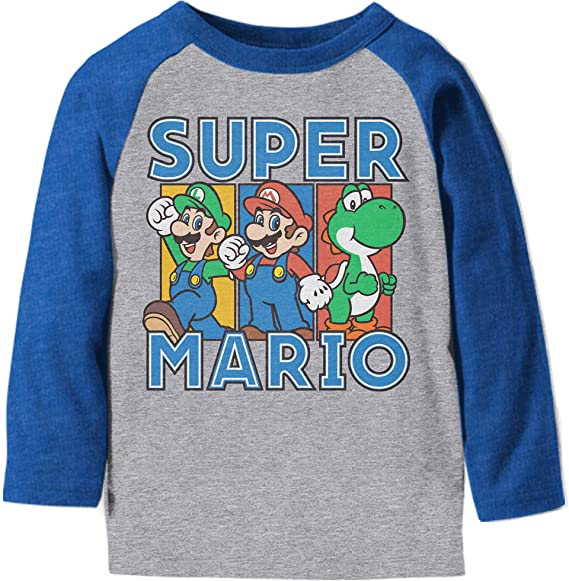 Amazon.com: Jumping Beans Toddler Boys 2T-5T Super Mario Team Graphic Tee 3T Heather Gray: Clothing