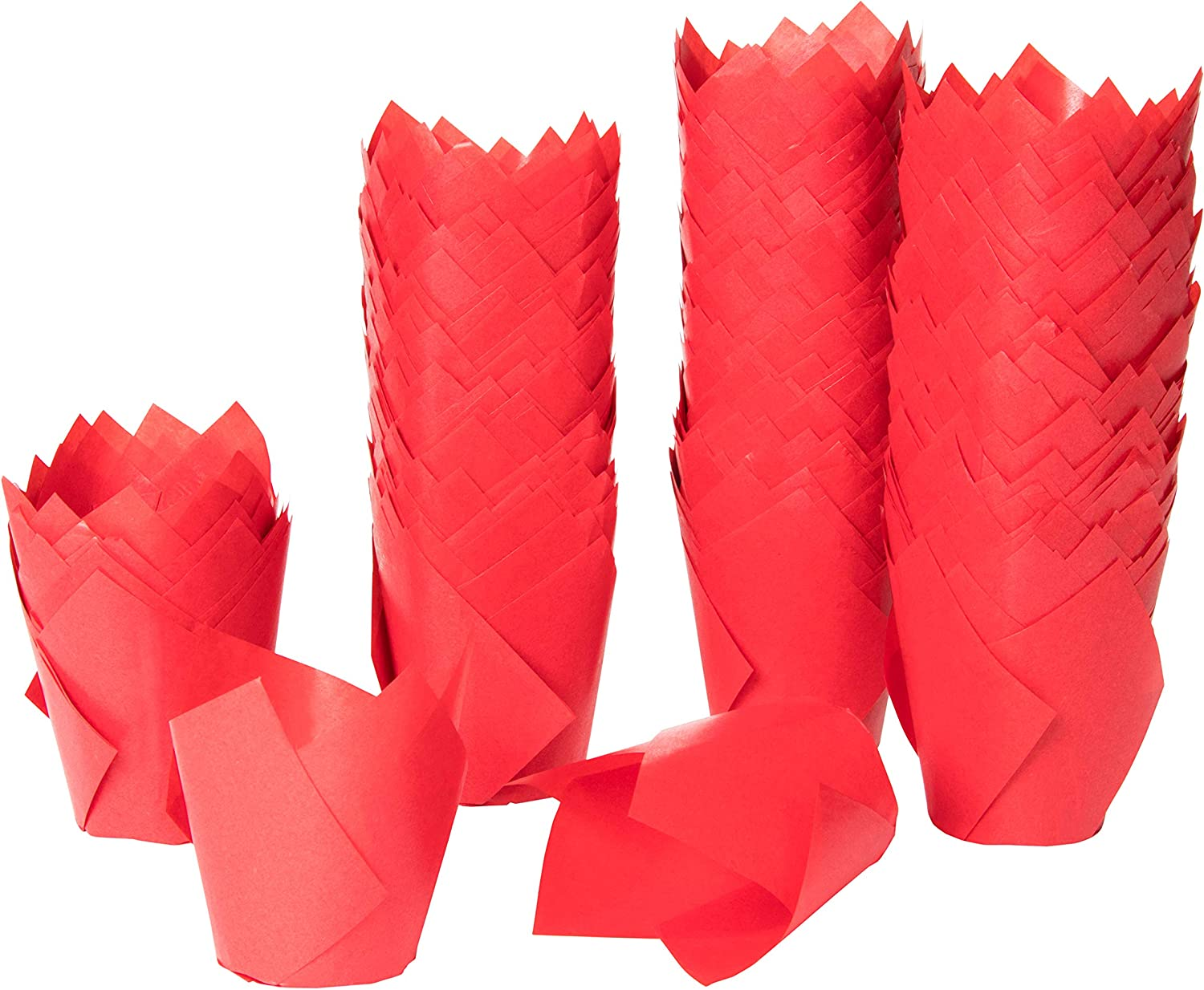 300 Pack Tulip Cupcake Liners Baking Cups Muffin Wrappers for Party Birthdays