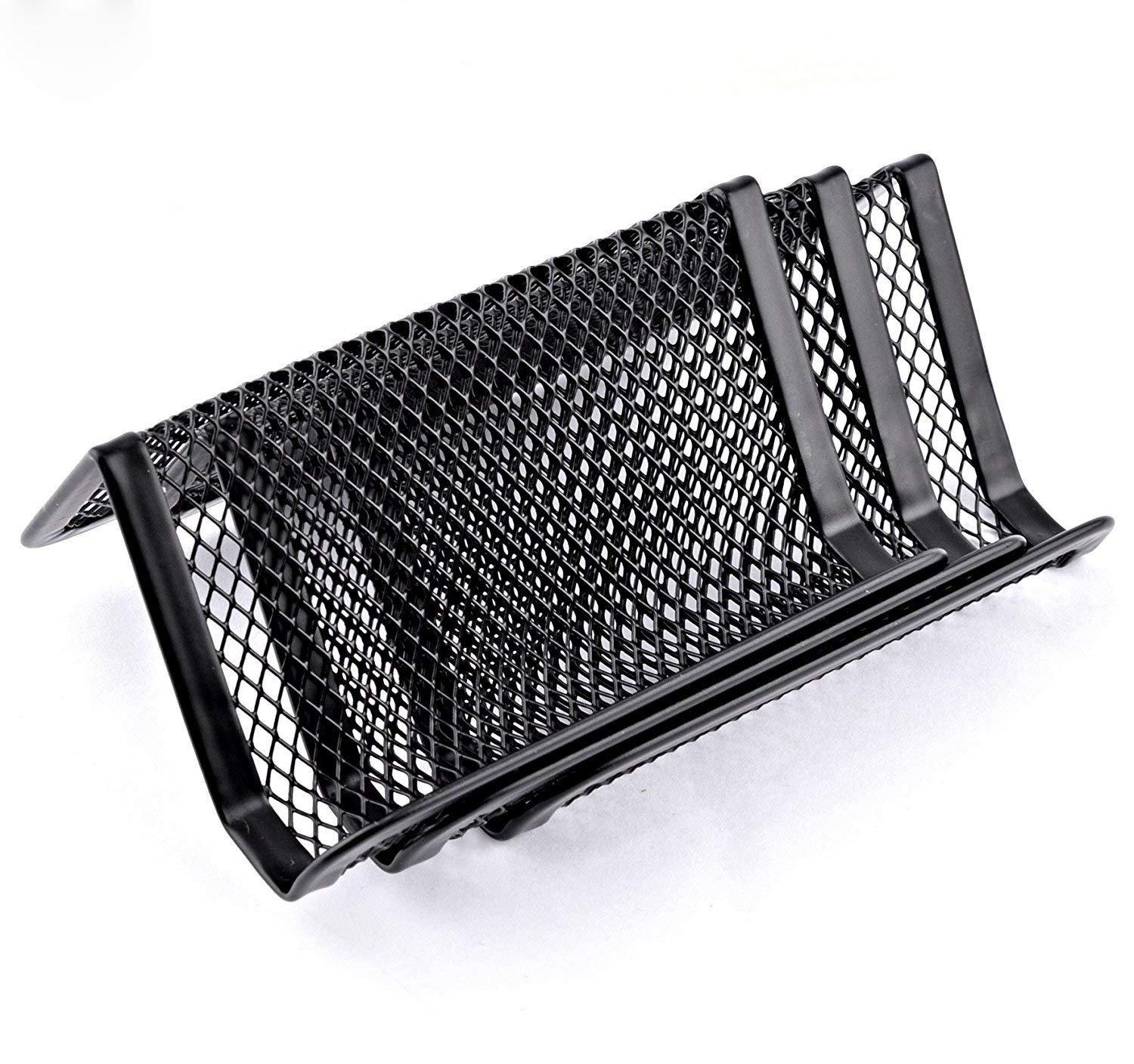 Black Rolodex Mesh Business Card Holder Tabletop Pack of 2 50 Card Capacity