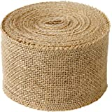3 Inches Wide Burlap fabric craft Ribbon on Spool - 10 yards