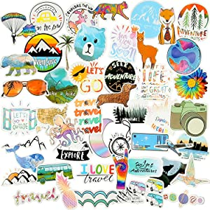 100 Pieces Vsco Stickers for Water Bottles Cute Aesthetic Stickers Vinyl Stickers Decals for Laptop, Phone, Luggage, Skateboard, Teens Girls Boys