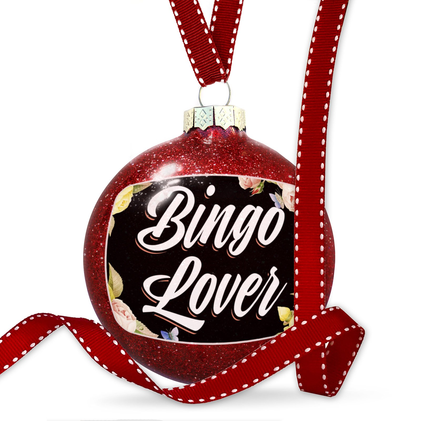 Christmas Decoration Floral Border Bingo Lover Ornament by NEONBLOND
