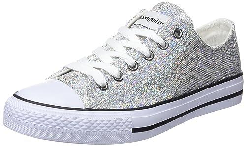 Conguitos Basquet Glitter, Zapatillas para Niñas, Plateado (Plata), 29 EU: Amazon.es: Zapatos y complementos