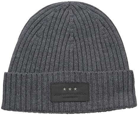 John Varvatos Star U.S.A Men s 2 X 2 Rib Knit Hat with Cuff ... 605d0bd7c609