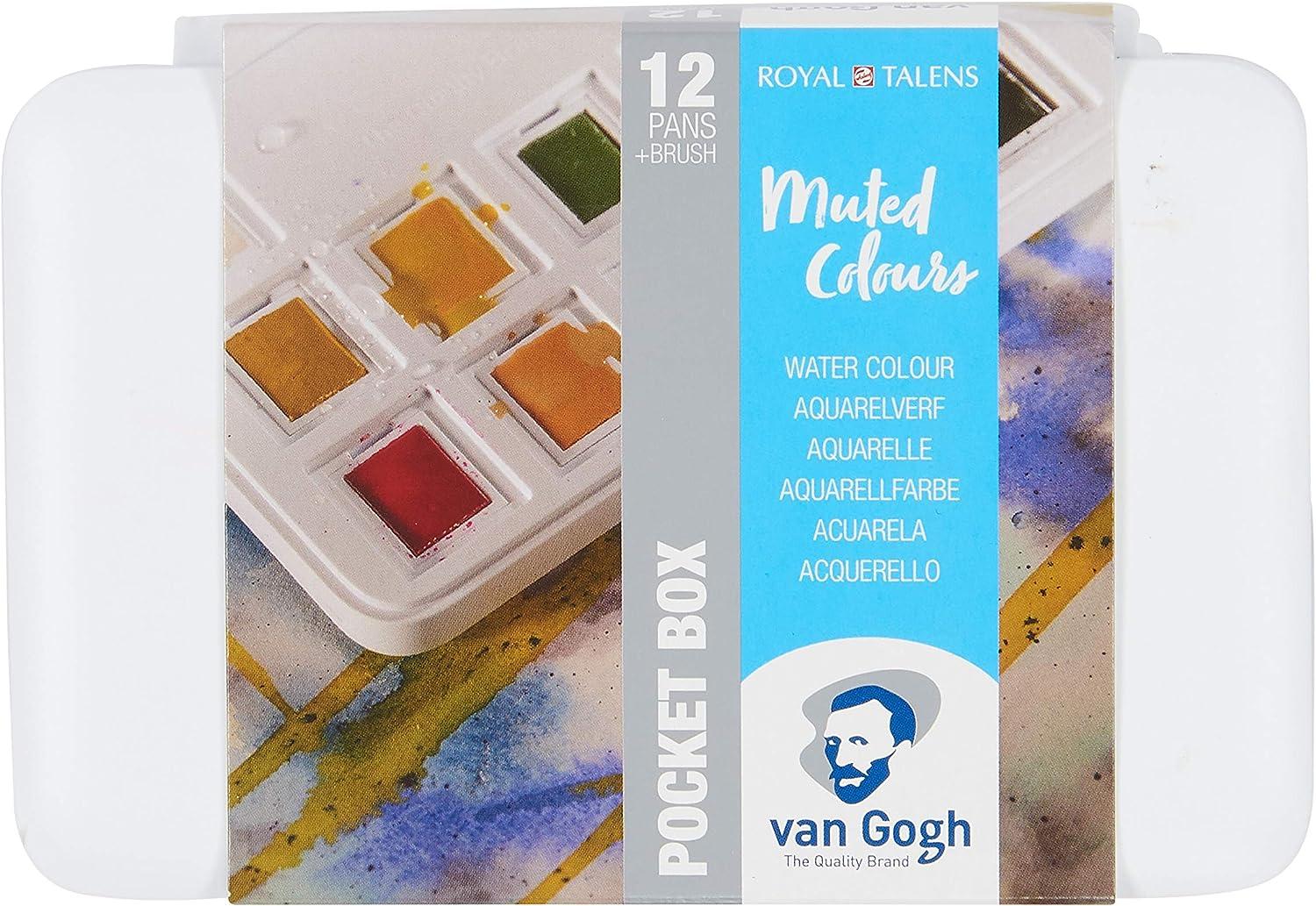 Royal Talens Caja De Acuarela De Bolsillo Van Gogh-Colores Apagados: Amazon.es: Hogar
