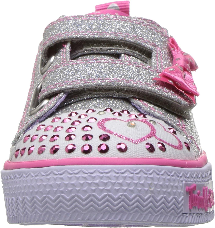 Skechers Shuffles Itsy Bitsy schwarz rosa Sneaker meisjes