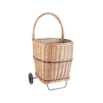 Kamino - Flam – Carrito para transportar leña, con 2 ruedas y 1 asa para