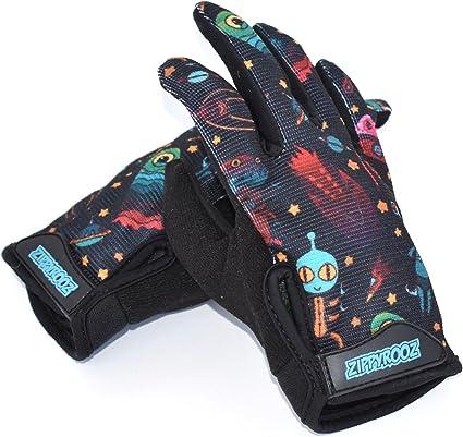 X Rated Kids Full Finger BMX Gloves Small
