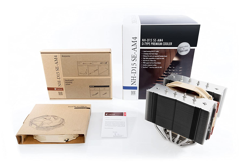 Noctua NH-D15 SE-AM4, Premium Dual-Tower CPU Cooler for AMD AM4 (Brown)
