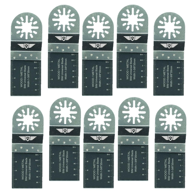 10 x 35 mm TopsTools UN35B_10 lames de coupe Mé tal Pour Bosch Fein (Pas StarLock) Makita Milwaukee Einhell Ergotools Hitachi Parkside Ryobi Worx Workzone Multitool Outil multifonction Accessoires