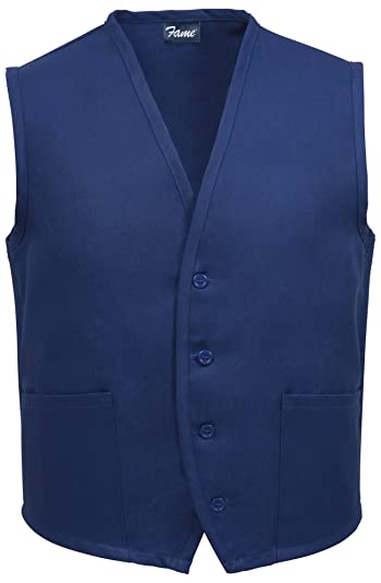 Adult's 2 Pocket Vest- Navy -Medium