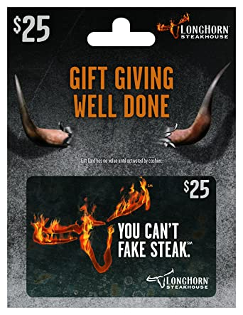 Amazon.com: LongHorn Steakhouse $25 Gift Card: Gift Cards