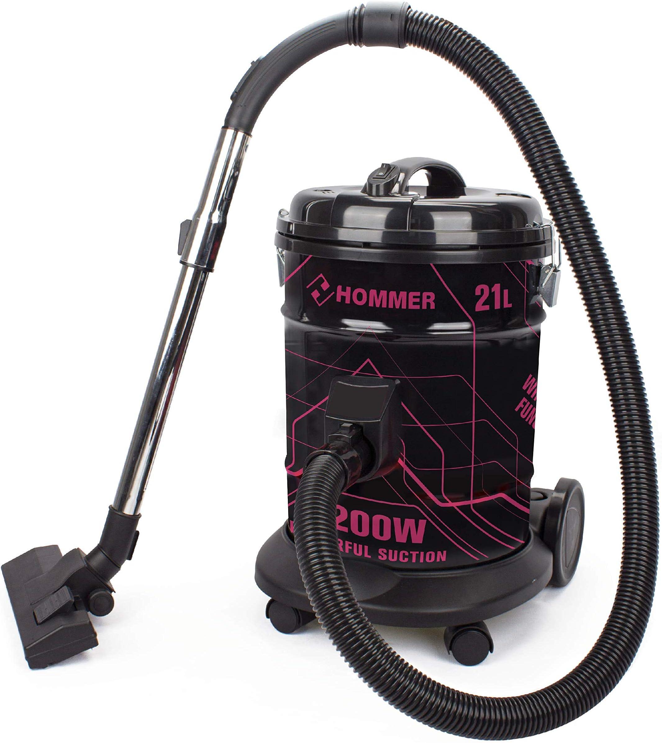 هومر مكنسة كهربائية 21 لتر، 2200 واط، خاصية دفع الهواء - HSA211-06