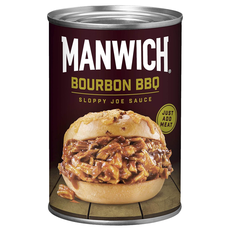 Manwich Sloppy Joe Sauce, Bourbon BBQ Flavor, Canned Sauce, 16 OZ