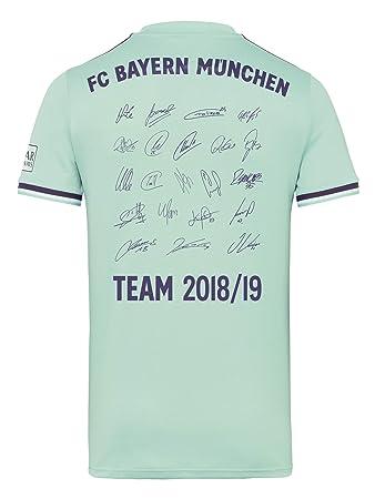 1bc80bf5f2 FC Bayern München Trikot Away, Unterschriften der gesamten Mannschaft als  Flock, Jersey 18/