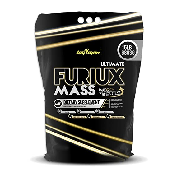Big Man Nutrition Ultimate Furiux Mass Suplementos Cookies - 6803 gr