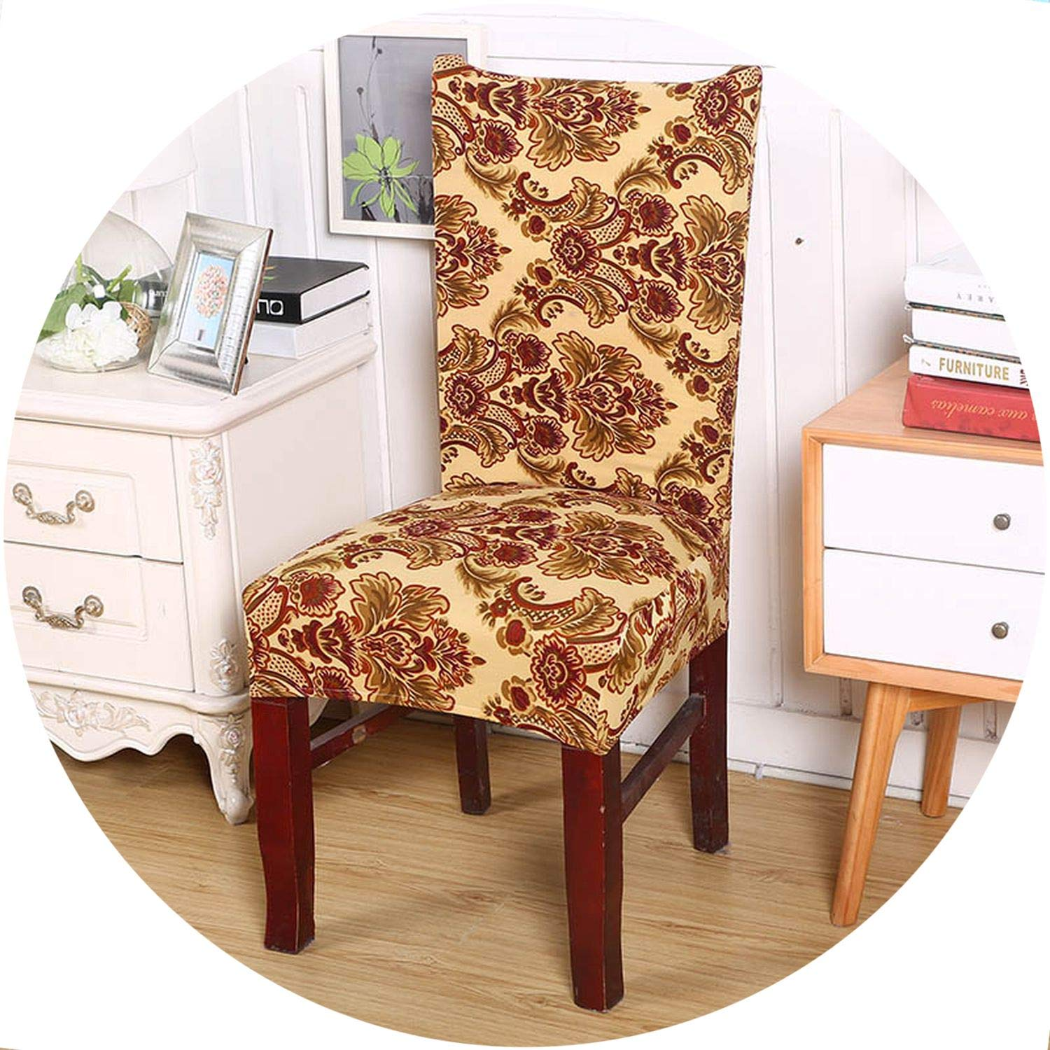 Amazon.com: better-caress 1/2/4/6 ces European Printing Chair Covers ...