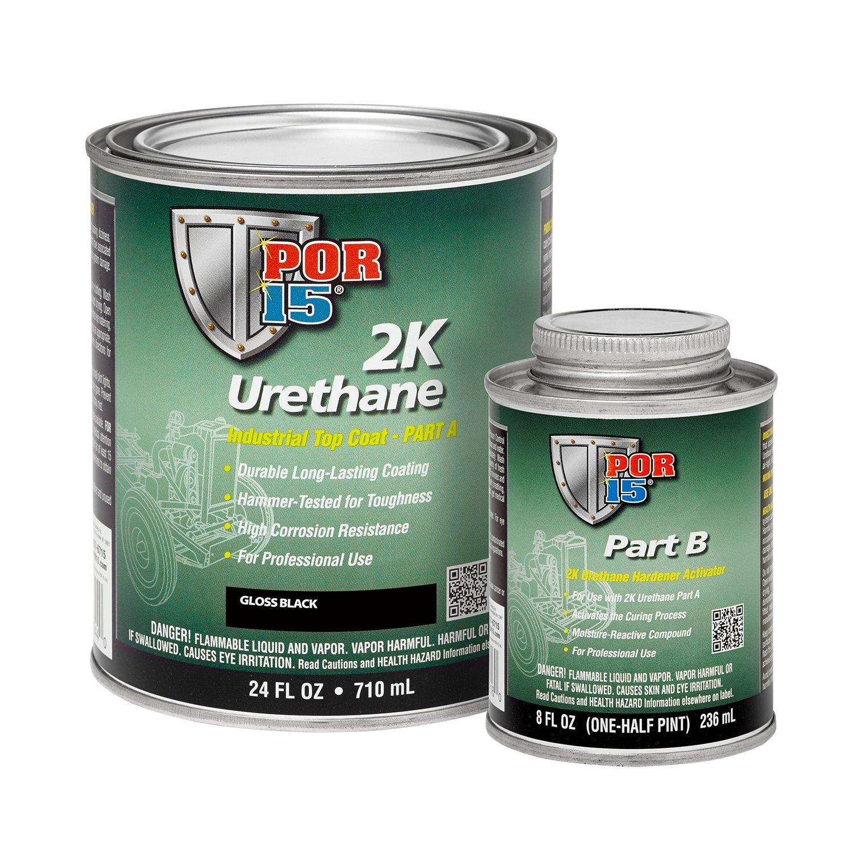 POR-15 43204 2K Urethane Gloss Black Qt