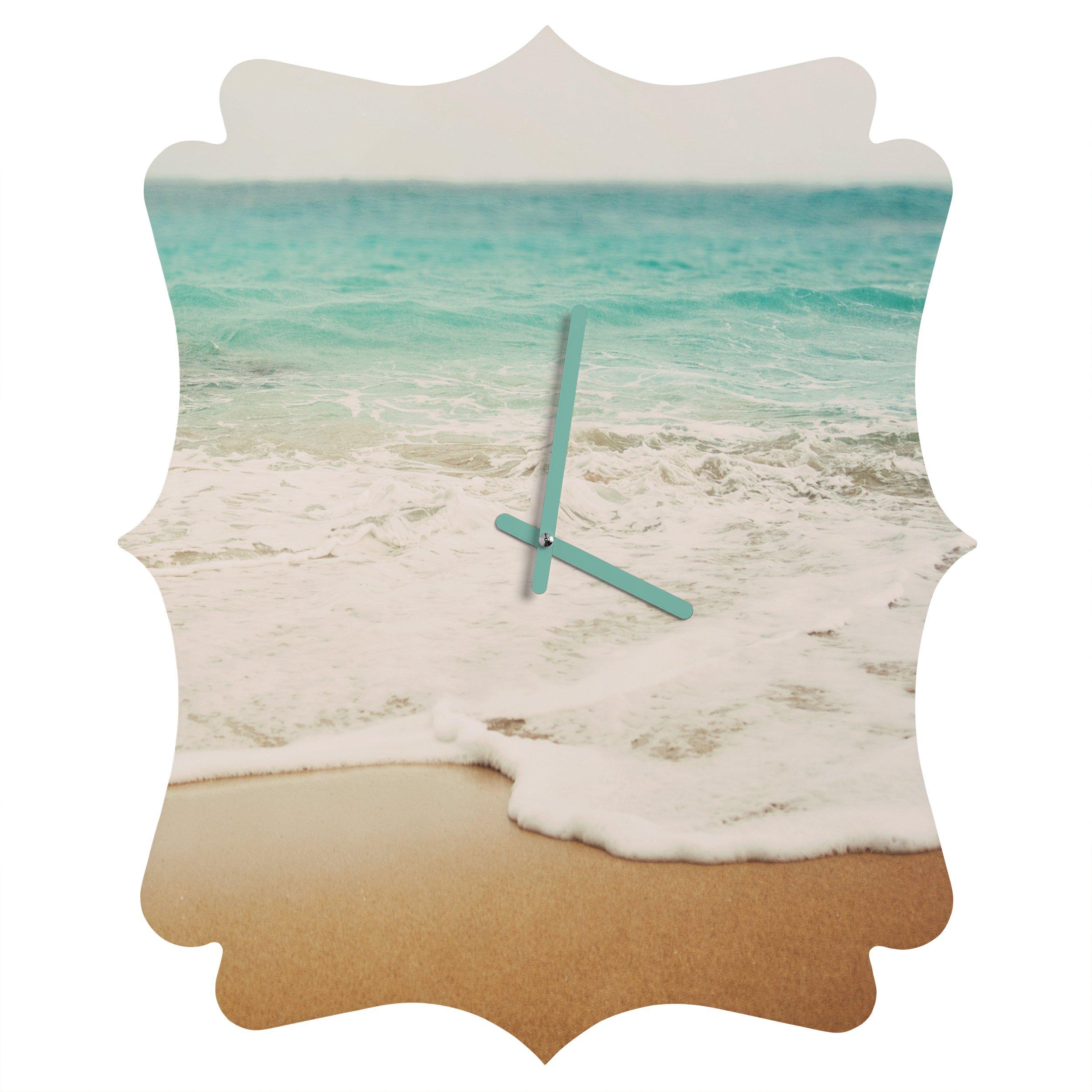Deny Designs Bree Madden, Ombre Beach, Quatrefoil Clock, Small