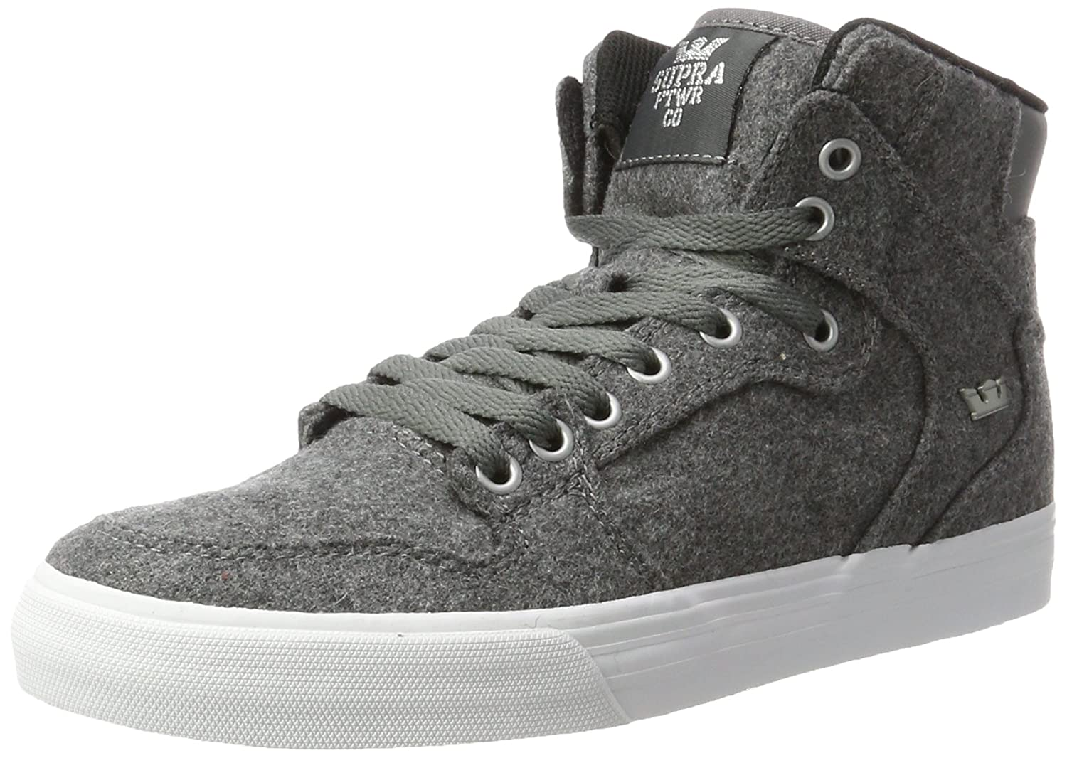 Supra Vaider LC Sneaker B06XYCFZD6 7.5 M US|Charcoal Wool/White