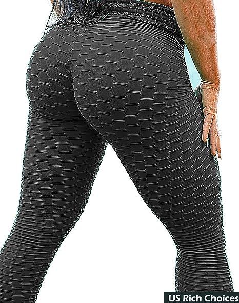 70d8c78c1e16 SEASUM Women s High Waist Yoga Pants Tummy Control Slimming Booty Leggings  Workout Running Butt Lift Tights