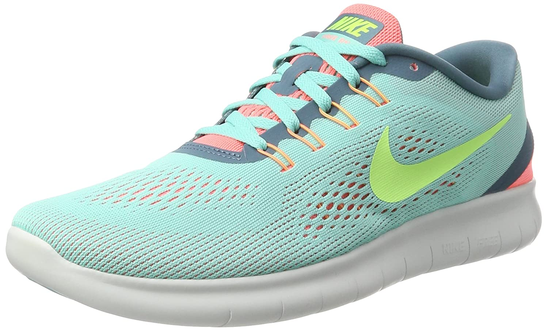 Nike Damen Free Rn Laufschuhe Türkis (Hyper Turquoise/Lava Glow/Smokey Blue/Ghost Green)