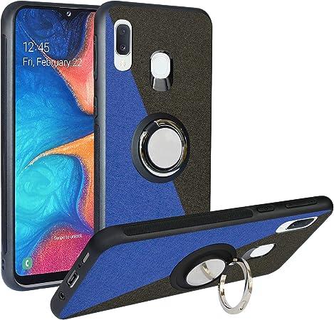 Funda para Samsung Galaxy A20e 2019, Fashion Design [Antigolpes] con 360 Anillo iman Soporte, Resistente a los arañazos TPU Funda Protectora para Galaxy A20e,Blue/Black: Amazon.es: Electrónica